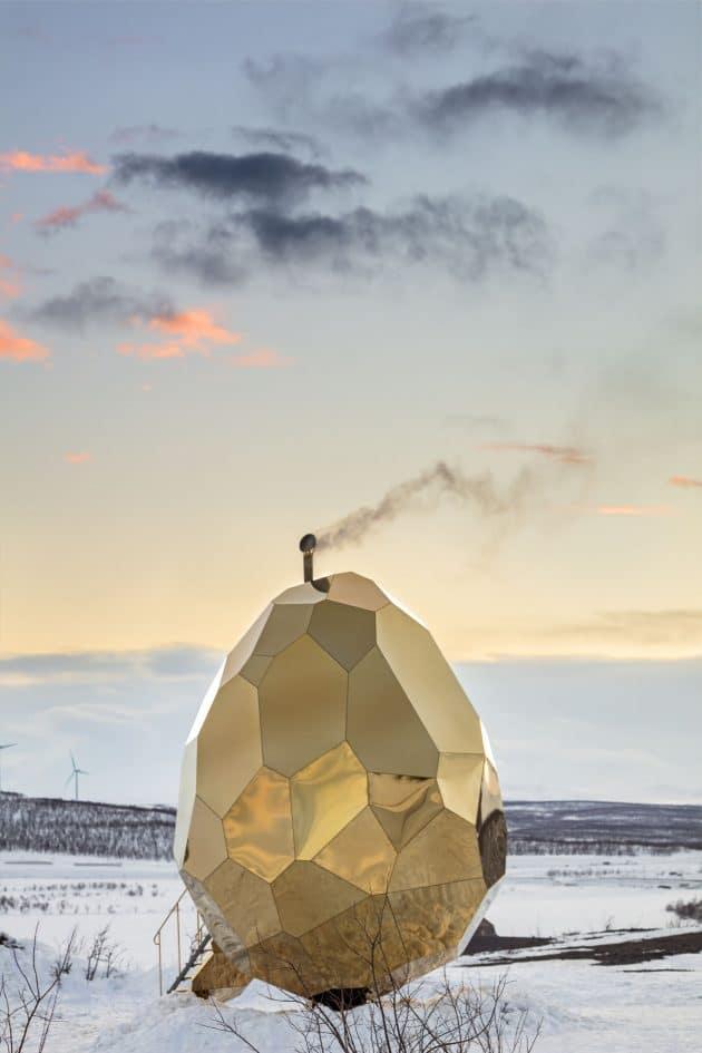 Riksbyggen's Solar Egg to Icehotel in Jukkasjärvi