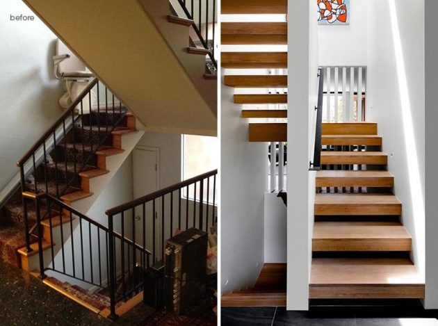 Before & After Modern Reform of a 60s American House