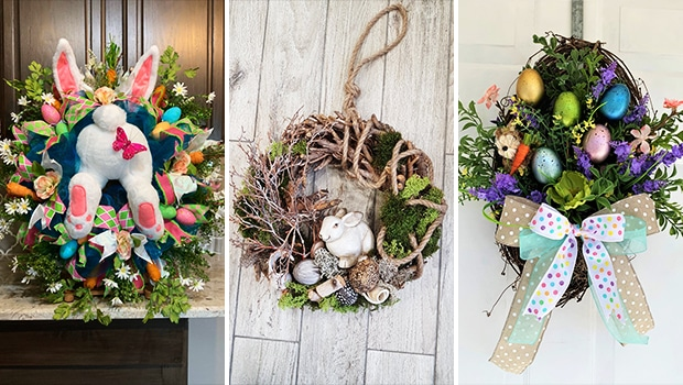 15 Colorful Easter Wreath Designs That Will Refresh Your Front Door