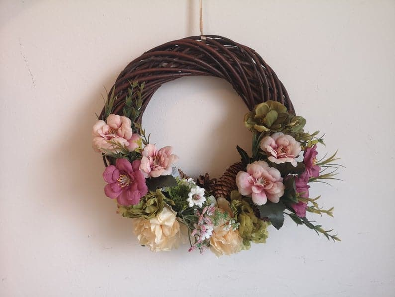 15 Lively Floral Spring Wreath Designs That Will Add A Pop Of Color To Your Decor
