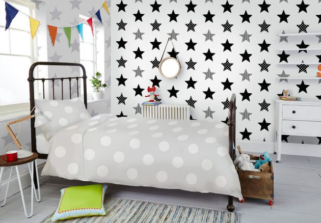 10 Patterned Wallpapers for a Child's Room