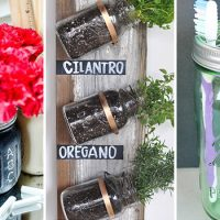 15 Cool & Practical DIY Mason Jar Storage & Organization Crafts