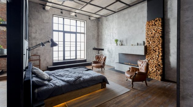 16 Wonderful Industrial Bedroom Interiors You're Going To Fall For