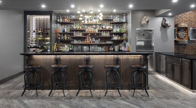 18 Majestic Industrial Home Bar Ideas You're Going To Enjoy