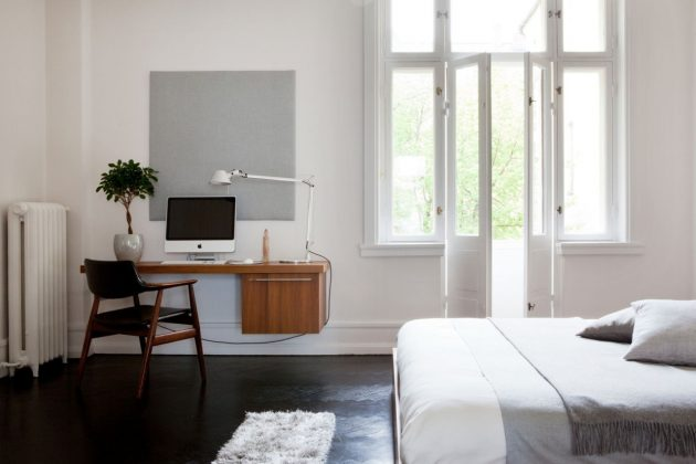 Storage Space in a Minimalist Bedroom