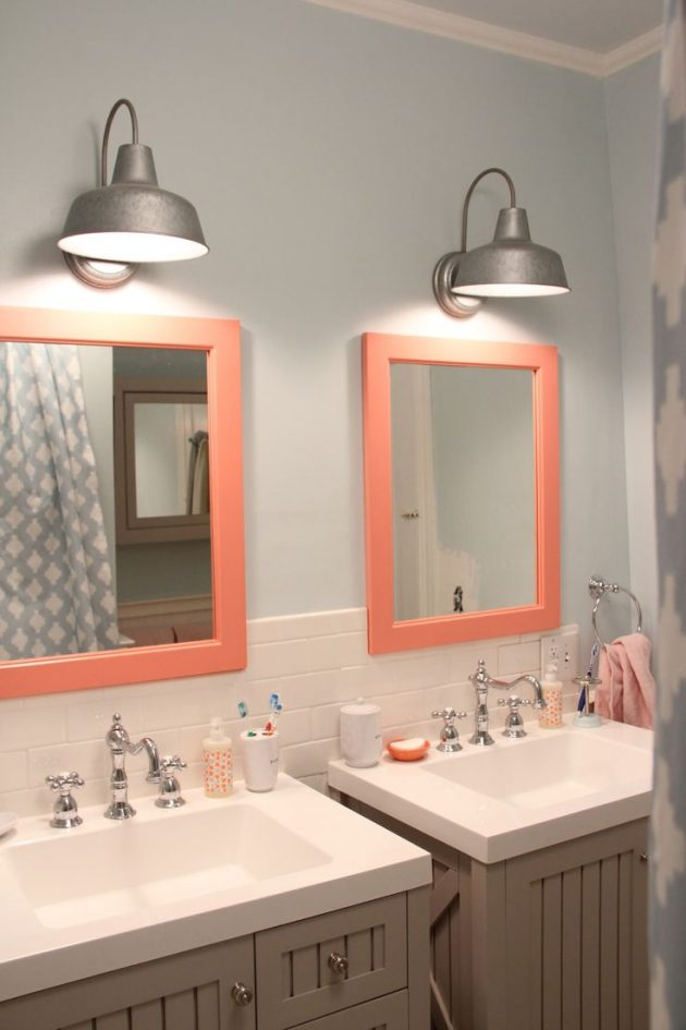 Coral Color in the Bathroom! Yes or Yes?