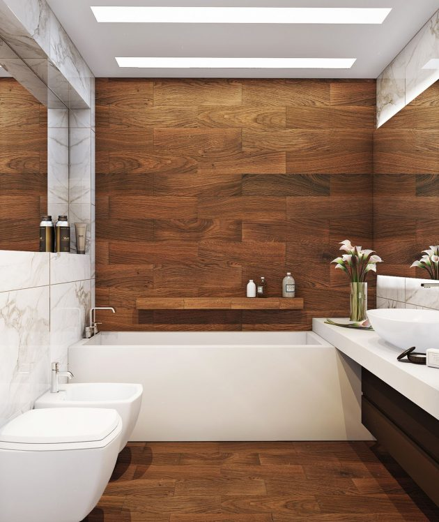 Can You Imagine Your Bathroom in Wood?