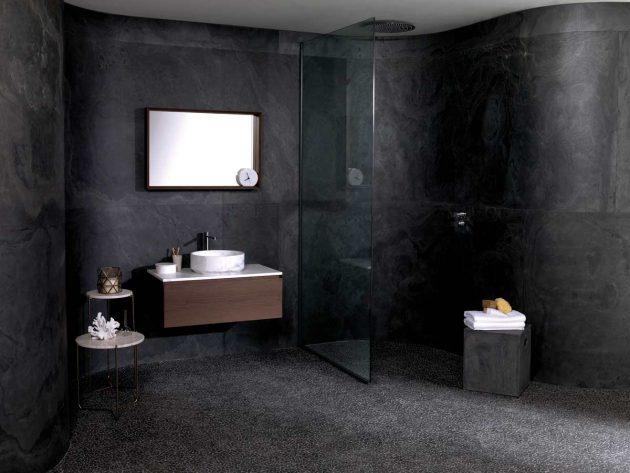 A Dark Shade in the Bathroom