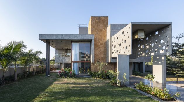 Pixel House by The Grid Architects in Ahmedabad, India