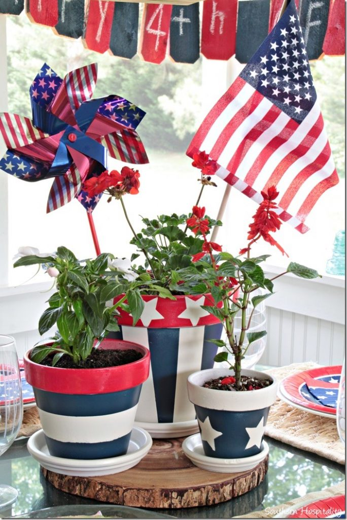 15 Eye Catching DIY Patriotic Centerpiece Crafts For 4th of July