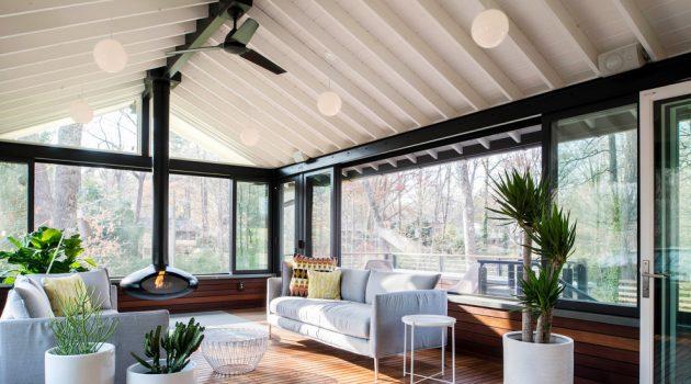 16 Breathtaking Mid-Century Modern Sunroom Designs For Everyday Use
