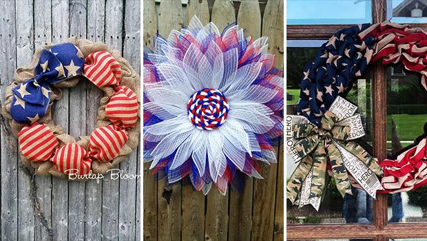18 Patriotic 4th of July Wreath Designs To Display On Your Front Door