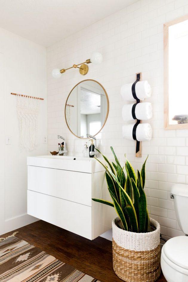 Storage for a Minimalist Bathroom