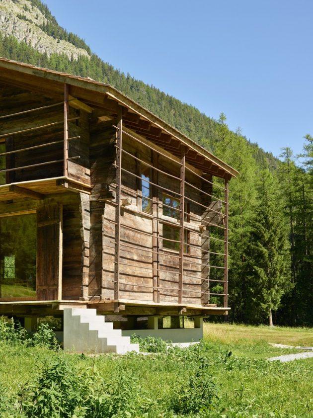 Barn Conversion by Savioz Fabrizzi Architects in Orsieres, Switzerland