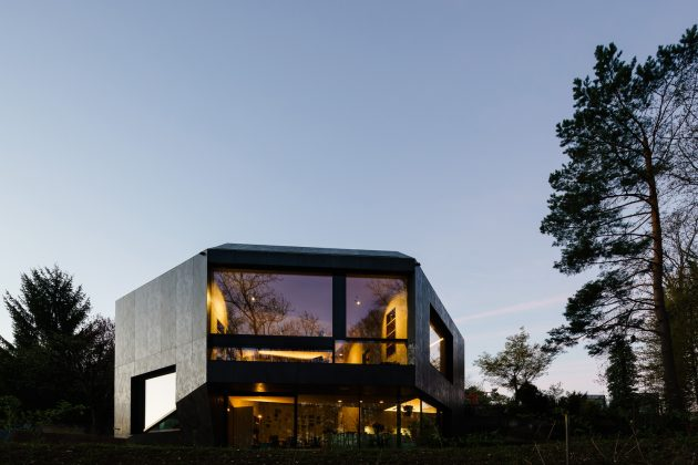 Forest House by Daluz Gonzalez Architekten in Basel, Switzerland