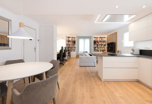 Barcelona Apartment with Rooms and Corridors Eliminated to Have More Light & Space