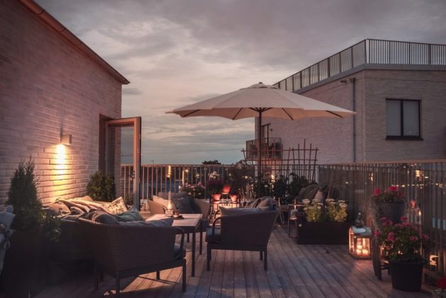 Lighting Up the Terraces for Cool Summer Nights
