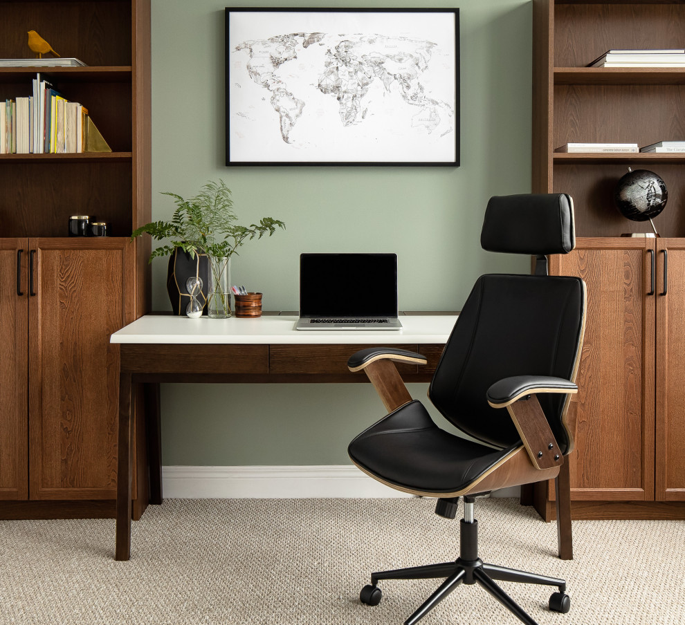 16 Astounding Mid Century Modern Home Office Interiors For Peak Productivity And Comfort