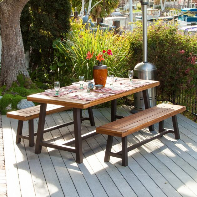 A Picnic Table for the Garden