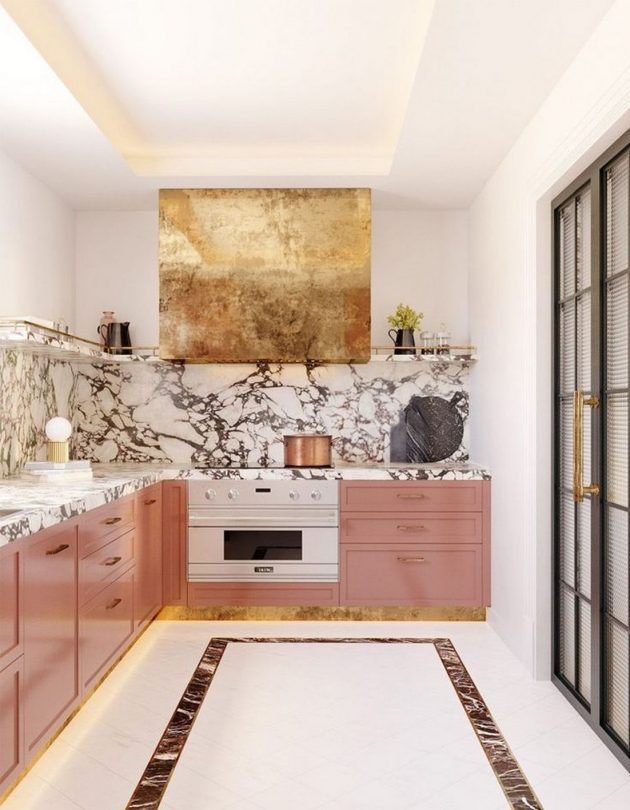 Mesmerizing, Elegant & Feminine Atmospheres in the Kitchen