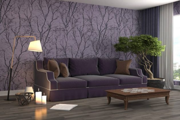 Purple in the Living Room