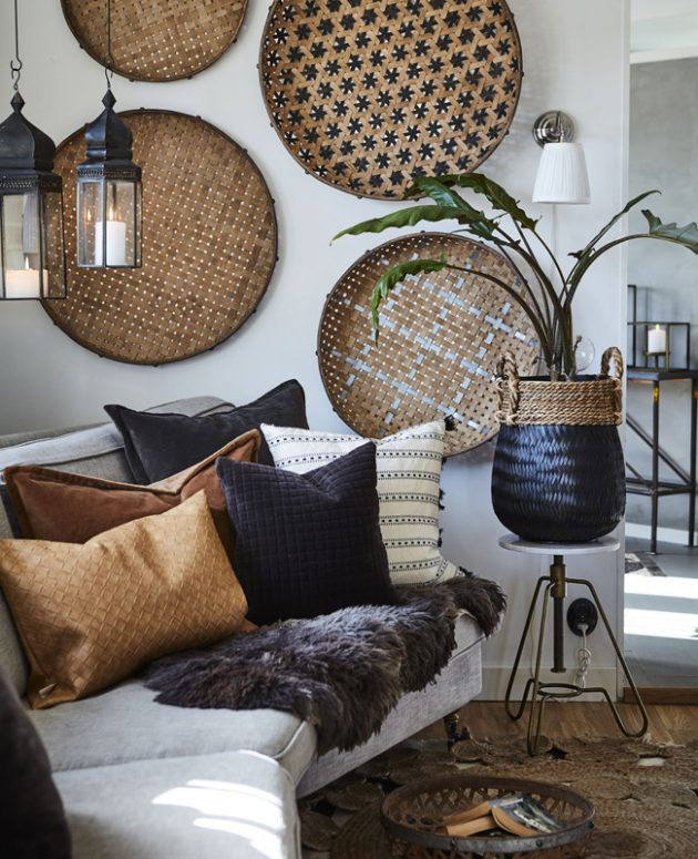 An Ethnic Decor in the Living Room