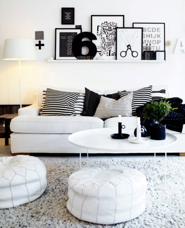 How to Use White in the Living Room?