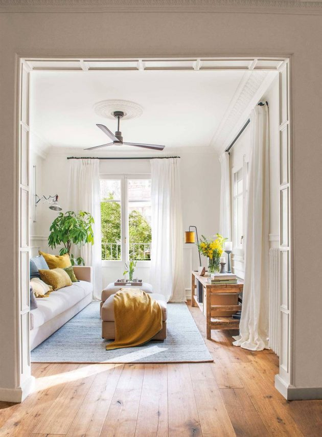 7 Curtain Tricks to Make Your Living Room Look Bigger