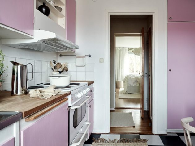 Pink Kitchen for the Daring and Open Minds