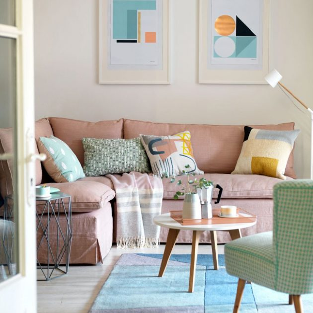 A Pastel Decor in the Living Room
