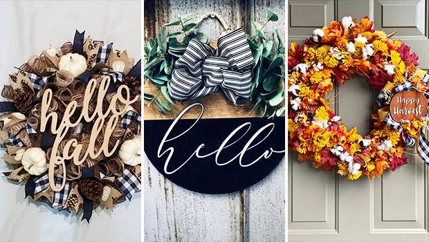 16 Vibrant Fall Wreath Designs For The Upcoming Summer To Fall Transition