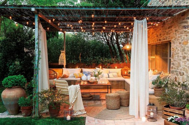 3 Charming Porches Day and Night