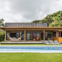 Bamboo House by Vilela Florez in Pipa Beach, Brazil