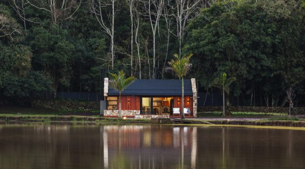 Lake House by Cadi Arquitetura in Imigrante, Brazil