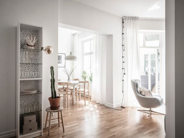 Small Nordic Apartment With an Open and Irregular Plan