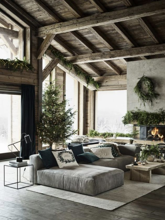 A Living Room in the Chic Nature Style