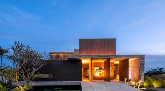 Corten House by Costaveras Arquitetos in Brazil