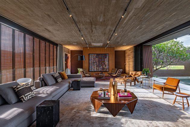 Corten House by Costaveras Arquitetos in Brazil