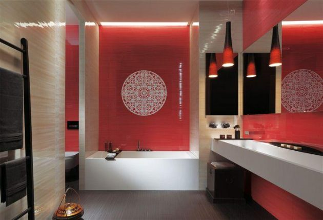 Beautiful Red Bathrooms to Get Inspired