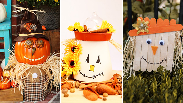 16 Adorably Cute DIY Scarecrow Decoration Ideas For Fall