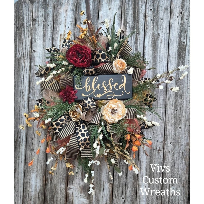 18 Beautiful Thanksgiving Wreath Designs That Will Bless Your Front Door
