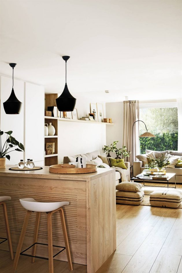 A Little Dream House With an Open Kitchen and a Garden