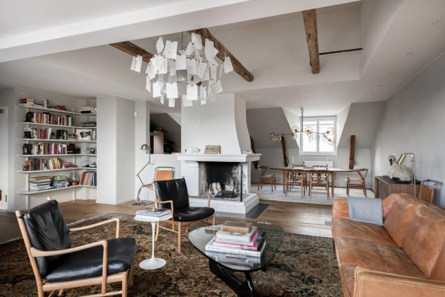 Lots of Woods & Lots of Design in a Spectacular Swedish Penthouse