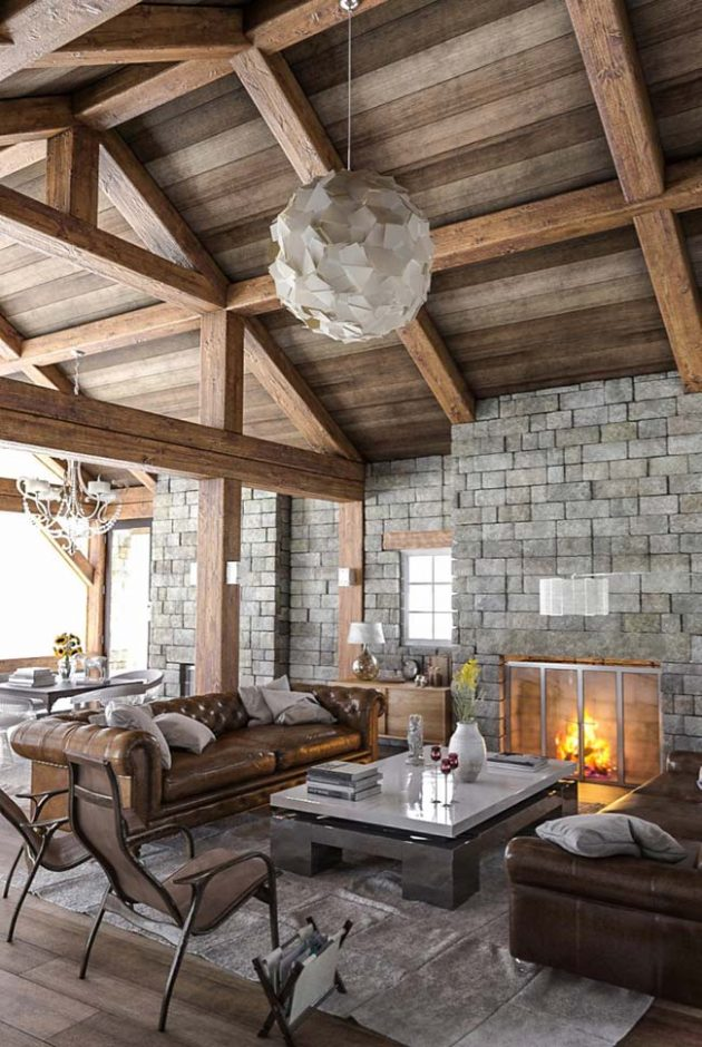 9 Inspiring Ideas of Majestic Rustic Rooms