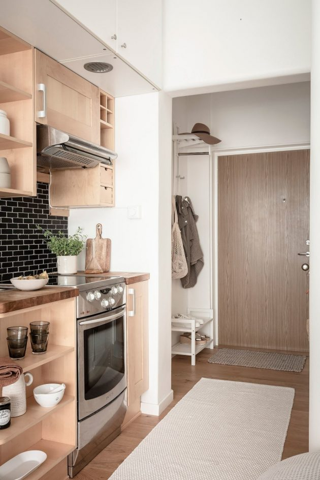 Inspiration for Small Studios in Natural Nordic Style