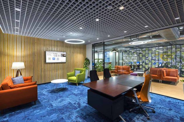 A Community-Inspired Workplace design for Evergent's New Office