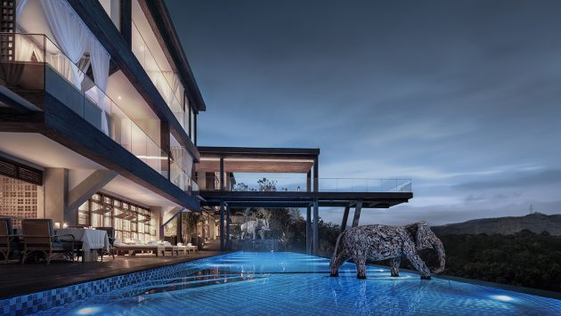 Oxyrest Villa, Designed by Zhang Can and Li Wenting, Xishuangbanna, China