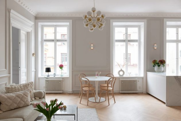 Elegant & Refined Swedish Apartment For Your Scandinavian Look Alike Home