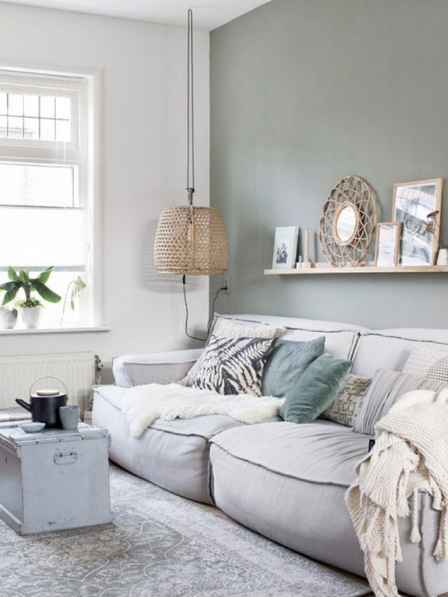Sage Green In The Living Room, Sage Living Room Ideas