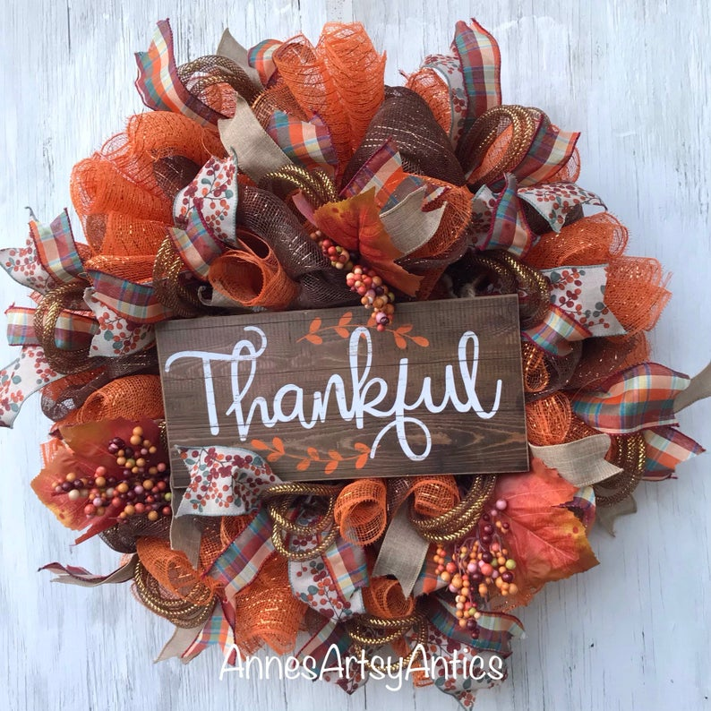 18 Graceful Thanksgiving Wreath Designs You Will Absolutely Adore